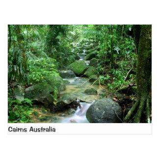 Postkarte Steinhaufen-Waldnebenfluss-Queenslands