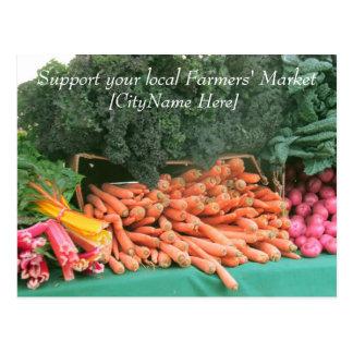 Postkarte - StützBauers-Markt - Karotten