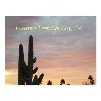 Postkarte Sun- Citysonnenuntergang-1