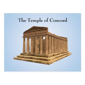Postkarte: Tempel von Übereinstimmung Tempio della Postkarte