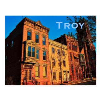 Postkarte Trojas (NY)