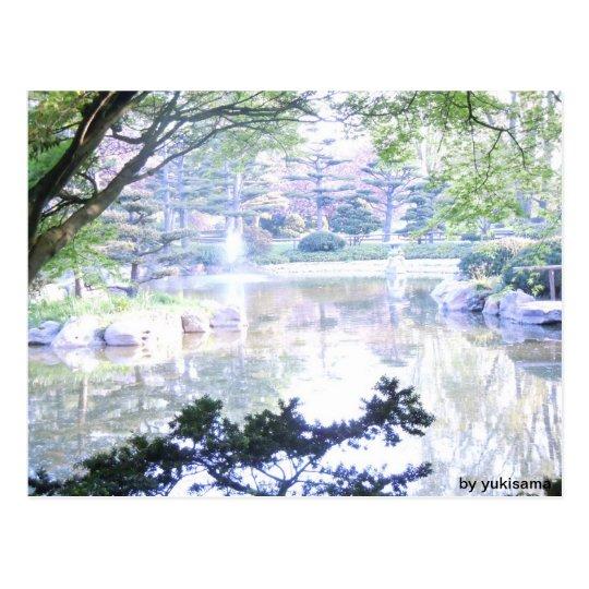 Postkarte - Überbeleuchtete Landschaft