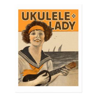 Postkarte Ukulele-Damen-#2