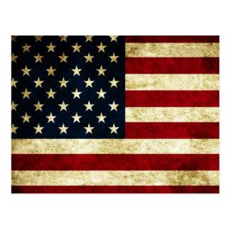 Postkarte, USA, Flagge Postkarten