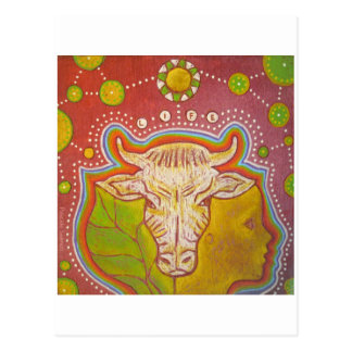 Postkarte vegan LIFE human pflanzliches Tier