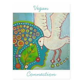 Postkarte vegan Verbindung LIFE