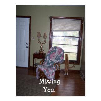 Postkarte, vermisst Sie Postkarte