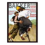 Postkarte:   Vintage Anzeige für Gummifahrrad-Reif