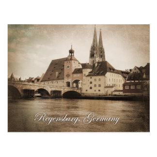 Postkarte Vintagen Regensburgs, Deutschland