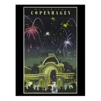 Postkarte-Vintages Reise-Kopenhagen Postkarte