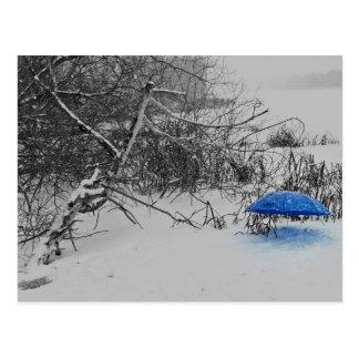 Postkarte - vom Schirmlein auf dem Eis