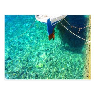 Postkarte von Panormos auf Tinos Insel,