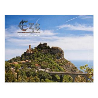 Postkarte von Provence, Eze