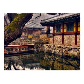 Postkarte von Songgwangsa, Südkorea