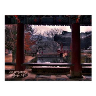 Postkarte von Songgwangsa Tempel, Südkorea