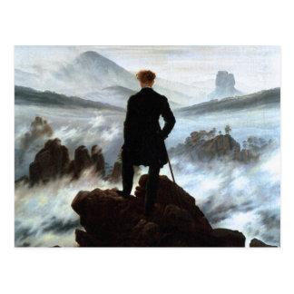 Postkarte: Wanderer über dem Meer des Nebels Postkarte
