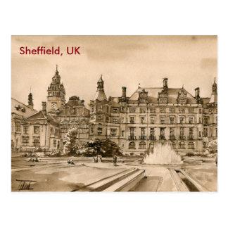 Postkarte - Wasserfarbe - Sheffield,