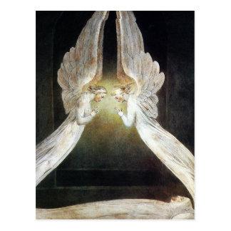 Postkarte Williams Blake Christus schützte durch