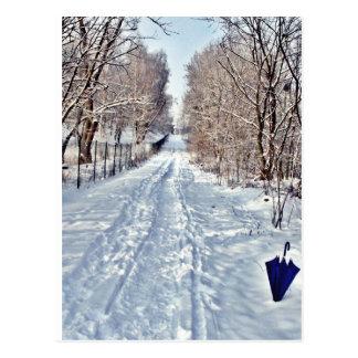 Postkarte - Winterspaziergang II