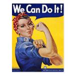 Postkarte: Wir können sie tun - Vintages Plakat-Bi