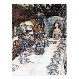Postkarte: Wütendes Hutmacher-Tee-Party - Rackham Postkarte