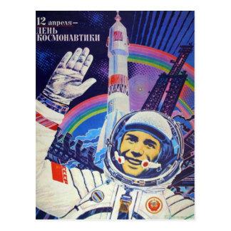 Postkarte Yuris Gagarin