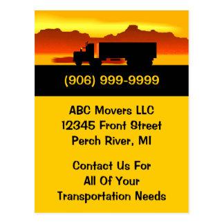 Postkarten-beweglicher LKW-Urheber-Transport-Gesch Postkarten