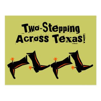 Postkarten-Cowboystiefel, die über Texas TX Postkarten