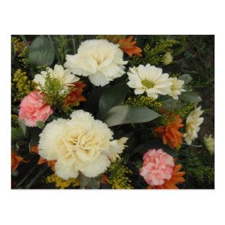 Postkarten-Gartennelken-Blumenstrauß