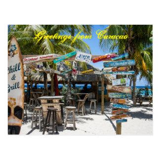 Postkarten-Grüße von Curaçao Postkarte