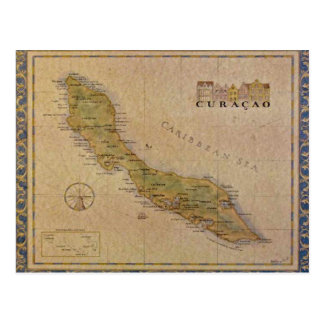 Postkarten-Karte von Curaçao Postkarte