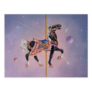 Postkarten - Petaluma Karussell-Pferd 2