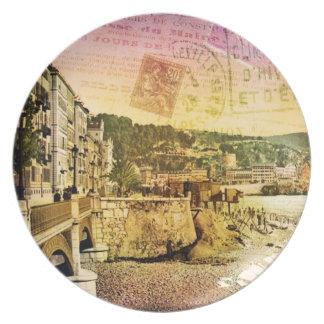 Postkarten-Platte Flacher Teller