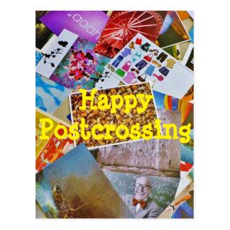 Postkarten reichlich - glückliches Postcrossing