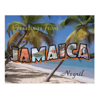Postkarten-Retro Art Jamaikas Negril Postkarte