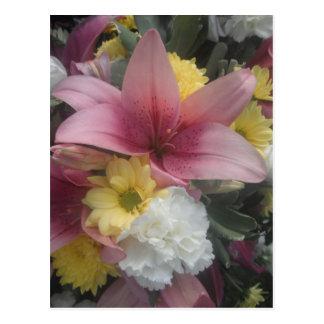 Postkarten-rosa Lilien-Schönheit Postkarte