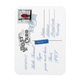 Postkarten-Rückseiten-flexibler Foto-Magnet Magnet