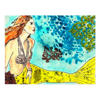 Postkarten-ruhige Wasser-Meerjungfrau Postkarte
