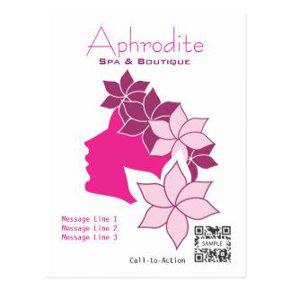 Postkarten-Schablonen-Aphrodite-Wellness-Center u. Postkarte