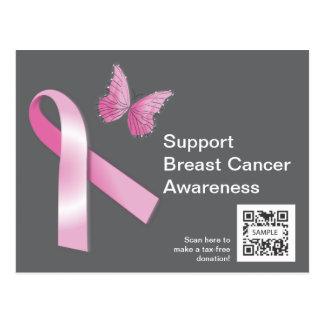 Postkarten-Schablonen-Brustkrebs-Bewusstsein Postkarte