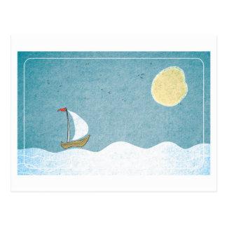 Postkarten-Segeln Postkarte