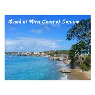 Postkarten-Strand an der Westküste von Curaçao Postkarte