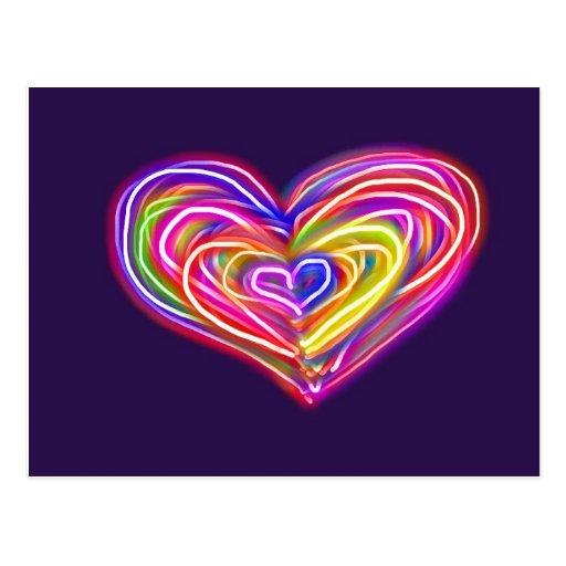 Postkarten-Valentinstag-Karte oder irgendeine Gele