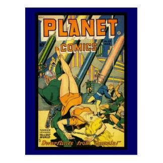 Postkarten-Vintage Comic-Bucheinbänd Postkarte