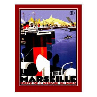 Postkarten-Vintage Reise Marseille Postkarte