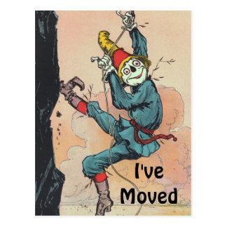 Postkarten-Vintage Vogelscheuche Unze bewegte Postkarte