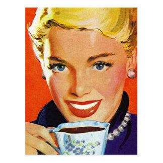 Postkarten-Vintager Retro Kaffee Klatch Klatsch PC Postkarte