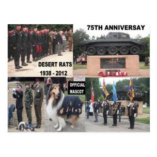 Postkarten-Wüsten-Ratten-75. Jahrestags-Feiern Postkarte