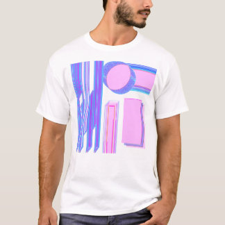 Postmodern Nettoentwurfs-Shirt der kunst-3D 2D T-Shirt