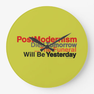 Postmodernism-moderne Wanduhr (Senf)